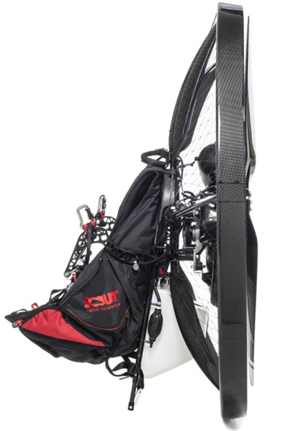 scout-carbon-paramotor-complete-studio-harness-goosneck-bar-side-view-enduro-stand-high-key624