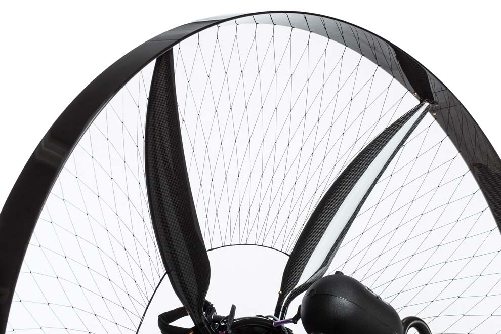 scout-carbon-paramotor-spars-ring-netting-high-key-detial-angled-view-studio-660